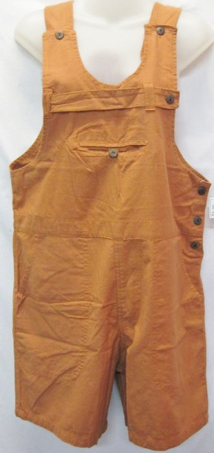 Overall Short Rust  Trendy to wear with a tee & so comfortable.   Made from 100% cotton/linen