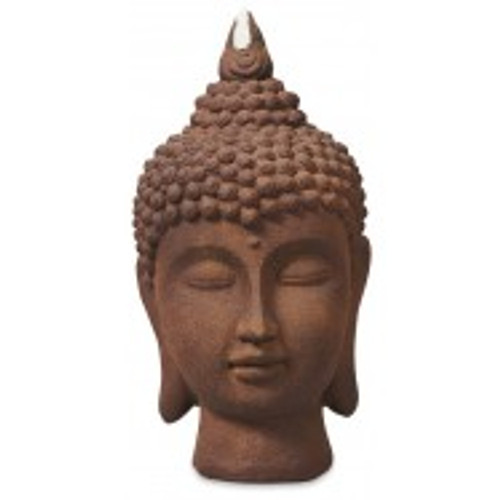 Terracotta Buddha Head   Beautiful large outdoor/indoor buddha Approx 30 x 60cm