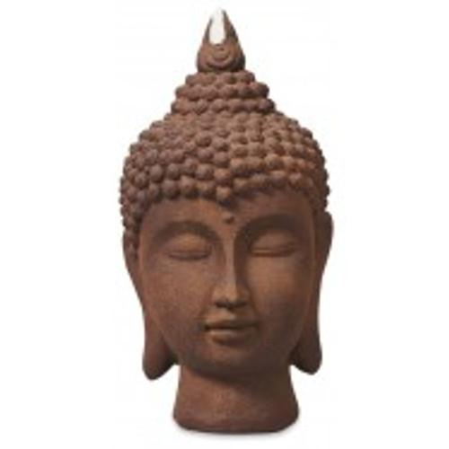 Terracotta Buddha Head   Beautiful large outdoor/indoor buddha Approx 30 x 60cm