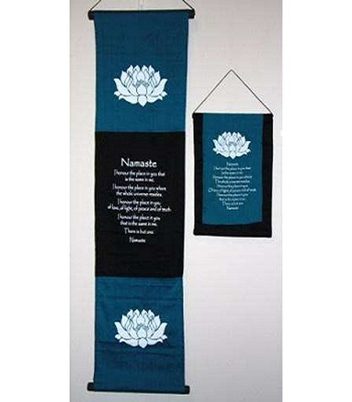 Banner Namaste Small  Approx 30x55cm