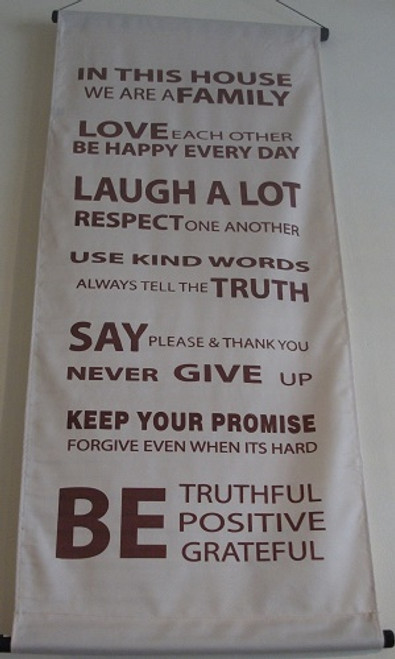 Banner House Rules Large  Approx 45x120cm