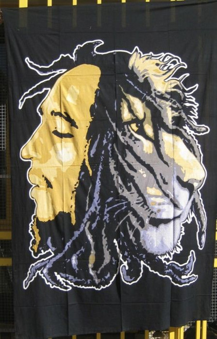 Throw/Wall Hanger Bob Marley Beige 100% cotton 140 x 210cm
