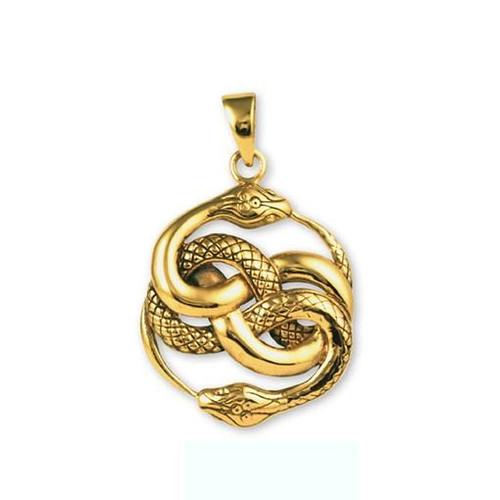 Snake Pendant  Gypsy Rose Bronze 4 x 2.5cm