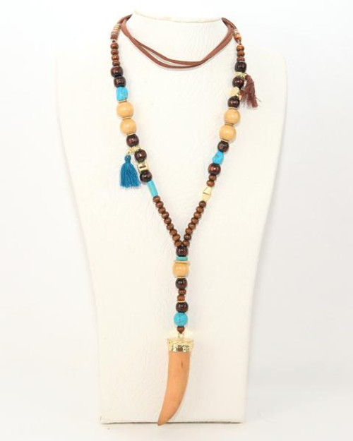 Boho Necklace Tooth