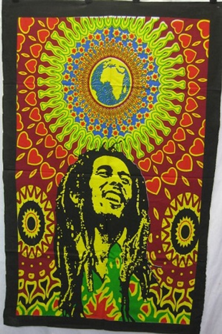 Throw over/wall hanger Bob Marley  Approx 110 x 75cm 100% Cotton