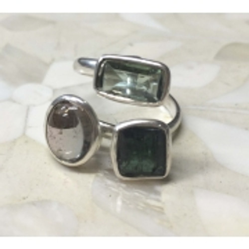 Ring Tourmaline Tri Colour  Size 7 Colour may vary slightly
