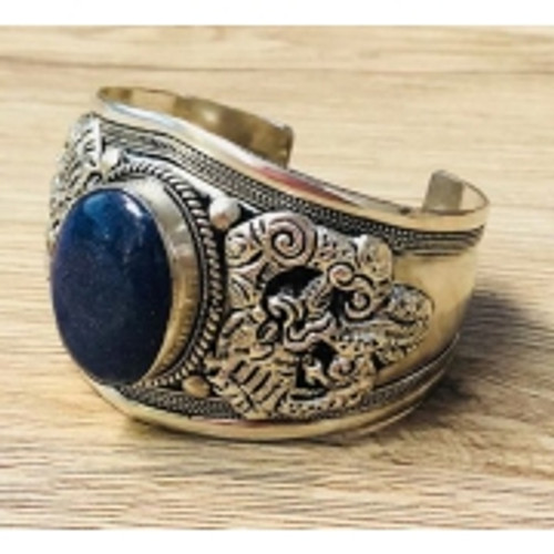 Bangle Lapis Dragon  Silver plated bulky bangle Approx 5.5cm at widest point