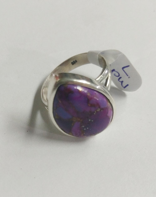 Ring Purple Mohave -    Checkout with Afterpay & pay 4 equal payments of only $12.25 over 8 weeks Size 7 Set in sterling silver. Approx 1.4 x 2cm