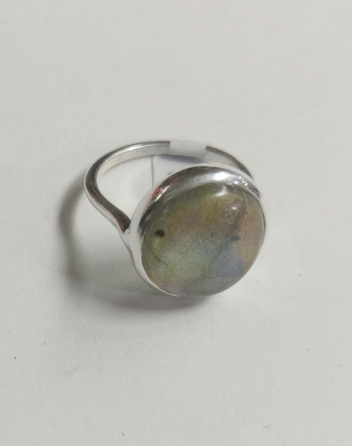 Ring Labradorite Golden -    Checkout with Afterpay & pay 4 equal payments of only $12.25 over 8 weeks Size 8 Set in sterling silver. Approx 1.7 x 1.7cm