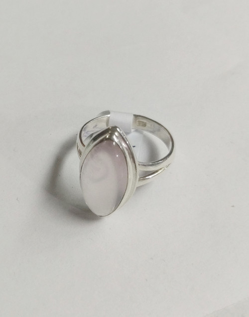 Ring Rose Quartz  -    Checkout with Afterpay & pay 4 equal payments of only $9.75 over 8 weeks Size 7 Set in sterling silver. Approx 1.2 x 2cm