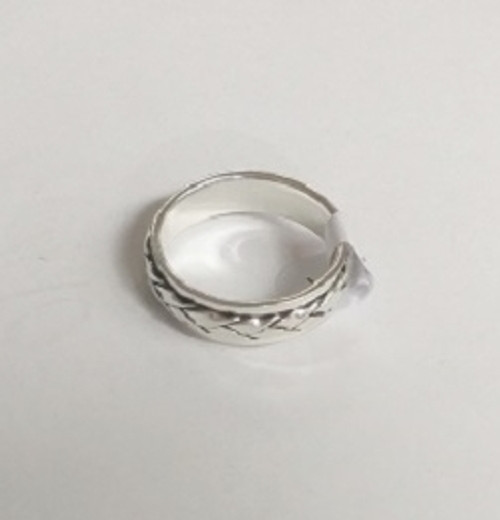 Ring Spinner Plait  -    Checkout with Afterpay & pay 4 equal payments of only $9.75 over 8 weeks Size 9  sterling silver.