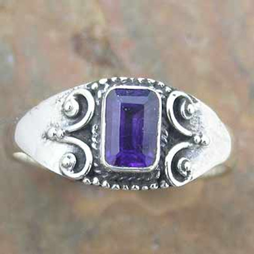 Ring Amethyst  -    Checkout with Afterpay & pay 4 equal payments of only $8.50 over 8 weeks Size 7  sterling silver.