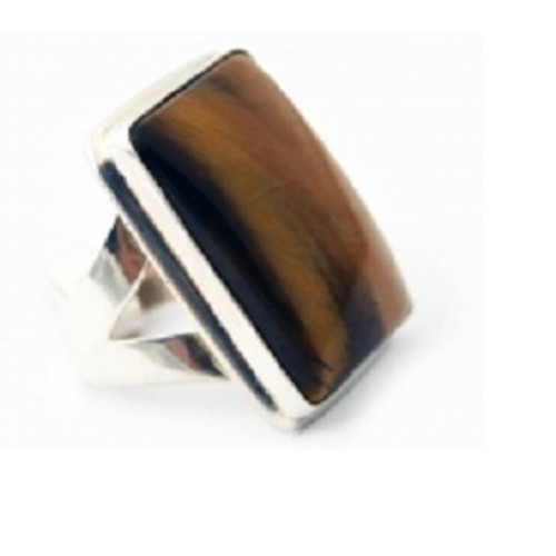 Ring Tiger Eye  -    Checkout with Afterpay & pay 4 equal payments of only $22.25 over 8 weeks Size 9  sterling silver. Approx 2 x 3cm