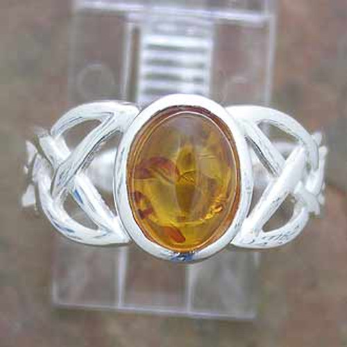 Ring Amber  -    Checkout with Afterpay & pay 4 equal payments of only $12.25 over 8 weeks Size 8  sterling silver. Approx 1.5 x 1cm