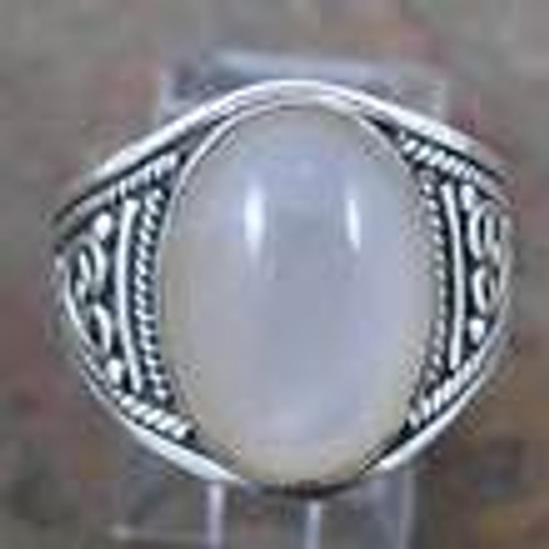 Ring Moonstone  -    Checkout with Afterpay & pay 4 equal payments of only $14.75 over 8 weeks Size 8  sterling silver. Approx 1.5 x 2cm