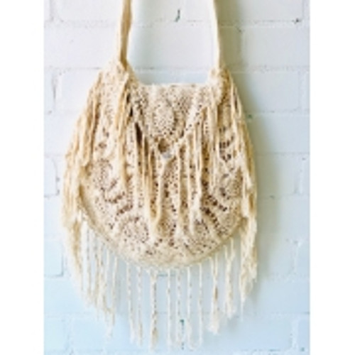 Macrame Bag Gorgeous in natural colour Fully lined Approx bag size 40 x 40cm