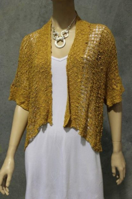 PAR Cardie Bubble Knit Mustard Fits up to 16