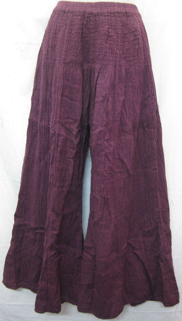 Lined Pant Purple  These pants are fully lined for warmth, shirred waist & wide legs. 100% cotton Fits up to 18