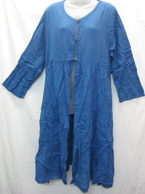 Autunm Cape Petrol  100% cotton with button at neckline Fits to 16