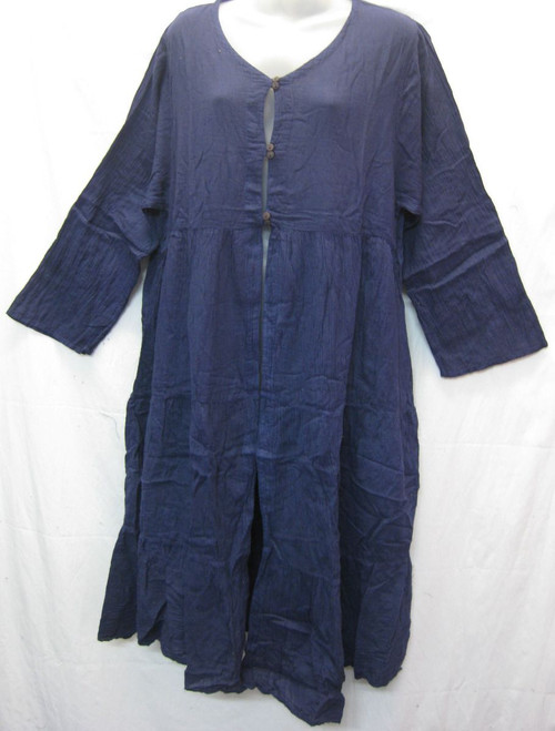 Autunm Cape Navy  100% cotton with button at neckline to waist Fits to 16