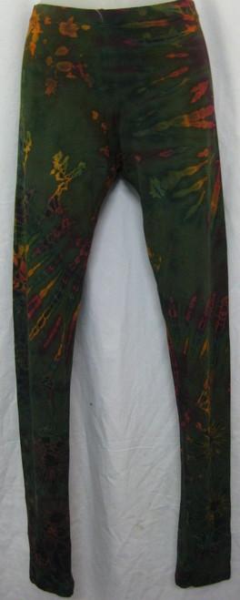 Leggings Green Size L/XL(10/14) 95% viscose 5% spandex