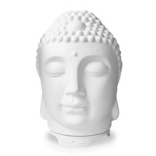 Diffuser Buddha Head  Holds 120ml. Has light & misting switch for variables. 20x12cm
