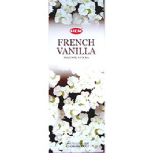 Incense Hem French Vanilla  Hex box of 20 sticks $3 each or 4 for $10 (2.50 ea)