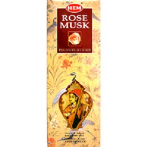 Incense Hem Rose Musk  Hex box of 20 sticks $3 each or 4 for $10 (2.50 ea)