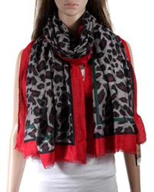 Scarf Animal Red Thick Cotton