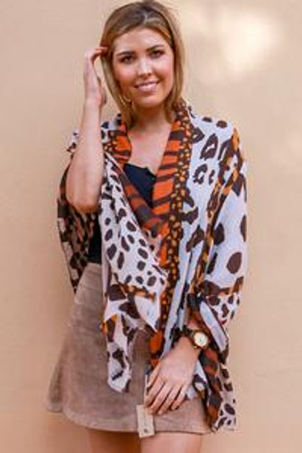 Scarf Animal Patch Rust  Thick Cotton