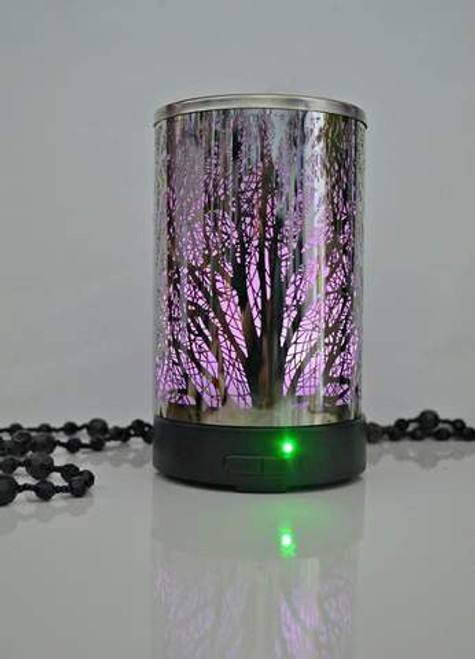 Diffuser Forest Silver Gorgeous Metal diffuser holds 150ml Has mist & colour variables Approx 16 x 10 cm
