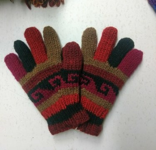 Glove Brown  Beautiful thick 100% wool with fleecy lining