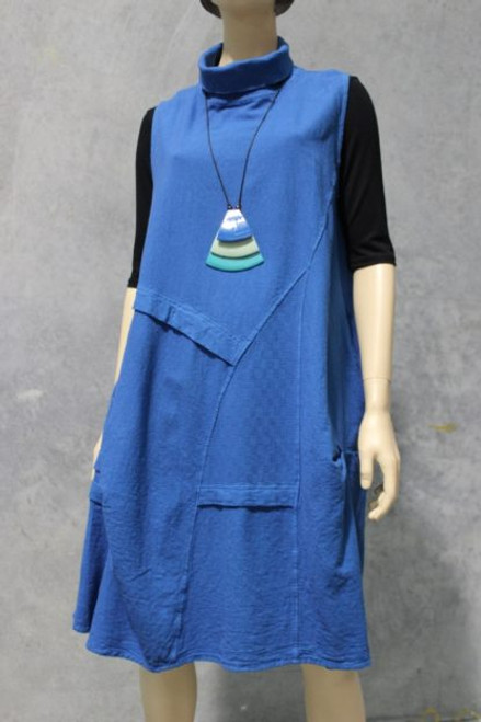 Pinafore Blue  Heavy 100% cotton  Great with long sleeves & leggings underneath.