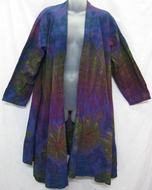 Jacket Tye Dye Purple Has side pockets 100% heavy cotton. Fits up to 16