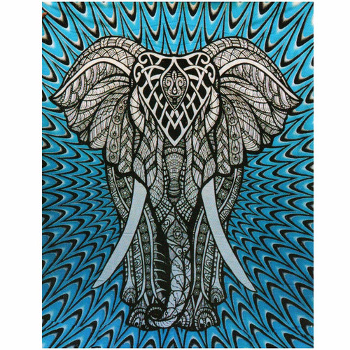 Throw/Wall Hanger Elephant 100% cotton 140 x 210cm