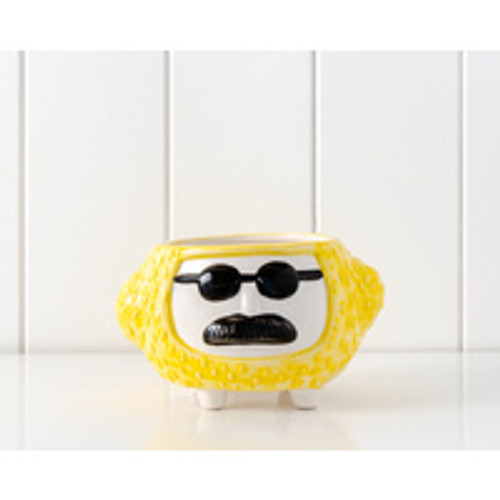 Hippy Pot Yellow Approx 10x15cm