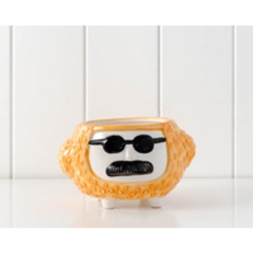 Hippy Pot Brown/Orange Approx 10x15cm