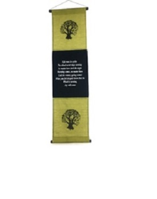 Affirmation Banner Life Large Green