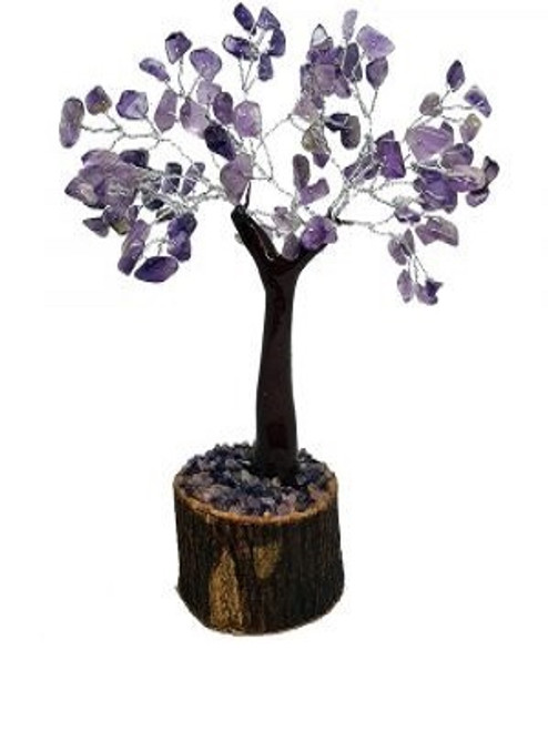 Crystal Tree Amethyst 100  Has 100 beads with resin base & Amethyst chips. Approx 20x10cm