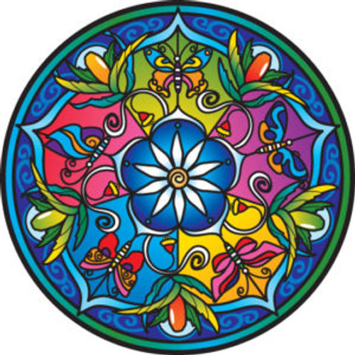 SunSeal Wild Flower Mandala  Looks great stuck to a wall or window