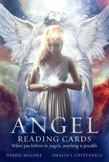 Angel Reading Cards by Australian Psychic of the Year, Debbie Malone, comprises a beautiful collection of Angels to help you tackle any situation; from the Angel of Travel, Angel of Fertility, Angel of Detoxification, Angel of Enlightenment to the Bully Prevention Angel. The accompanying booklet takes you through the meaning behind each card, and how best to utilise your Angels.  Debbie happily says that Angels are amongst us. We as earthly beings sometimes become too caught up with our daily lives that we forget that other realms exist around us.  In an age where we are faced with daily challenges from forces that appear to be out of our control, Angel Reading Cards help us to connect to a higher realm and seek the assistance we need in our everyday lives.