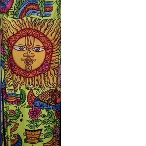 Sun Throw/cover/wall hanger. 140 x 200cm. 100% cotton. Colourful, boho, hippie
