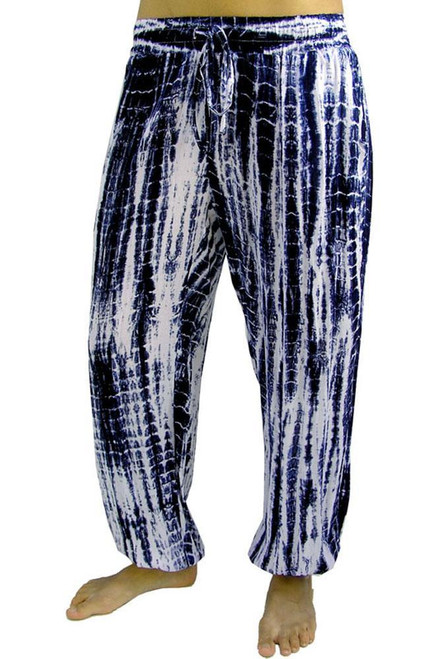 SD Gypsy Pant Navy Elastic at ankle & waist with draw string as well. Pockets at side.