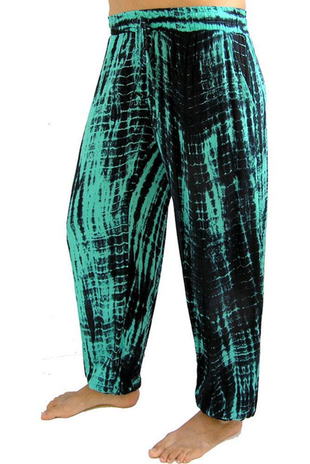 SD Gypsy Pant Green Elastic at ankle & waist with draw string as well. Pockets at side.  One size fits 10-16