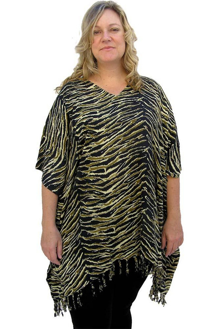SD Kaftan Swirl Gold Super comfy with Tassels  One size fits 10-20.