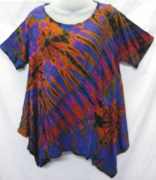 TH Tye Dye Tee Purple Comfy fit with short sleeve & flared angled hempline Fits 12-18