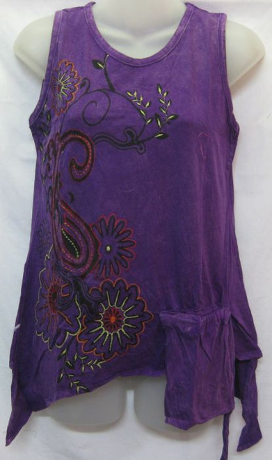 TH Singlet Embroidered Purple (L) Comfy fit with hanging pocket Fits 10-12