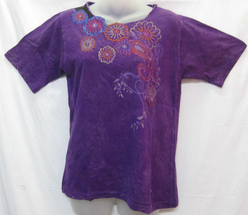 TH Embroidered Tee Purple (M)  Fits 8-10