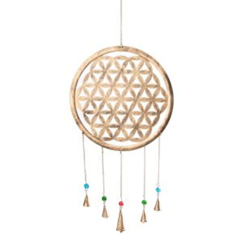 Brass Bells Flower of Life  Approx 35cm x 65cm