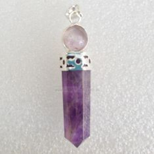 Pendant Amethyst Point Ball Silver Plated